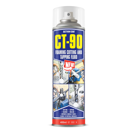 CT90 Foam Cutting & Tapping Fluid 400 ml Aerosol Ideal for Vertical Applications