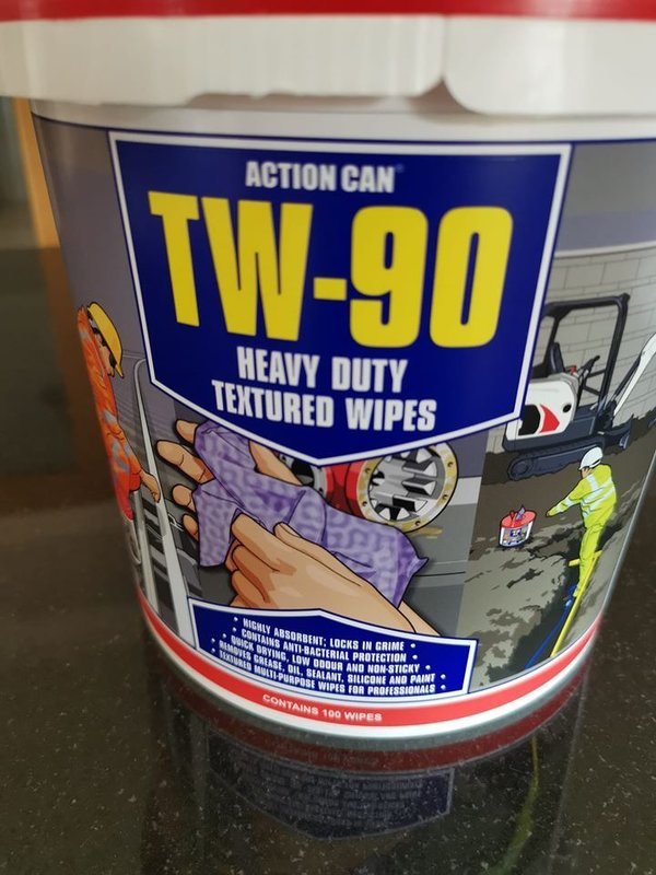 Action Can TW-90 Heavy Duty Textured Wipes
