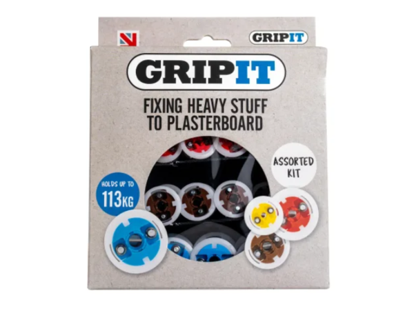 GRIPIT Plasterboard Fixings Assorted Kit, 32 Piece