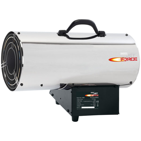 JET FORCE STAINLESS STEEL PROPANE SPACE HEATER (85,000 BTU/25 KW)