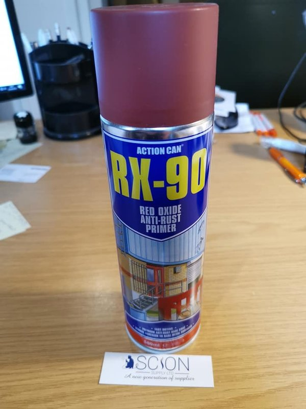 Action Can Rx 90 Red Oxide Anti Rust Primer 500ml Aerosol
