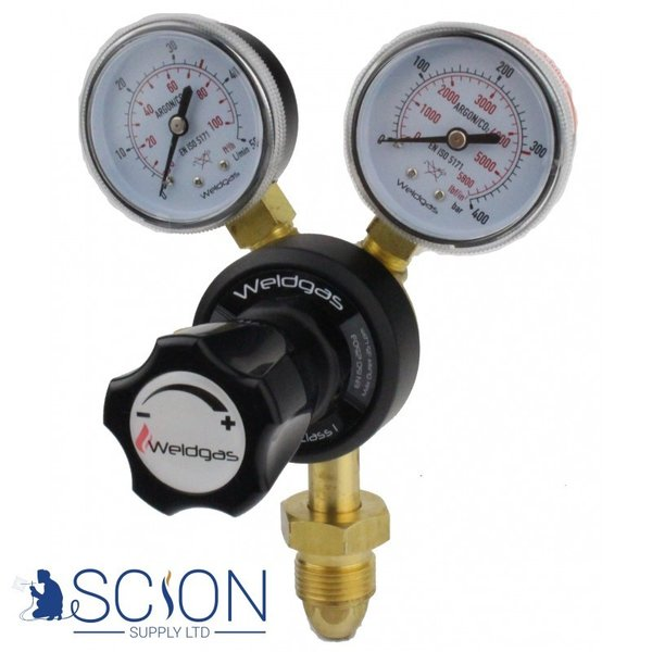 Argon/CO2 Gas Regulator for Welding Single Stage 2 Gauge 35 LPM