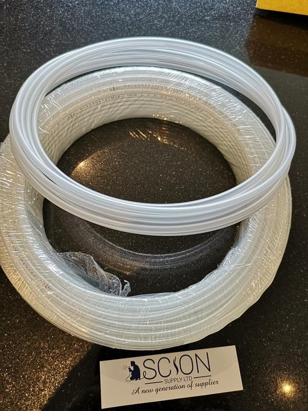 Natural Nylon Tubing 4mm x 2.5mm to suit Mini MIG Gas Regulator, price per metre.