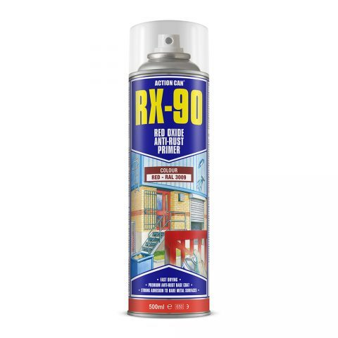 Action Can RX-90 Red Oxide Anti-Rust Primer 500ml Aerosol