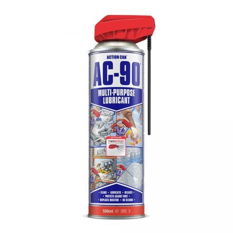 Action Can AC-90 Multi Purpose Lubricant 500ml Twin Spray Aerosol