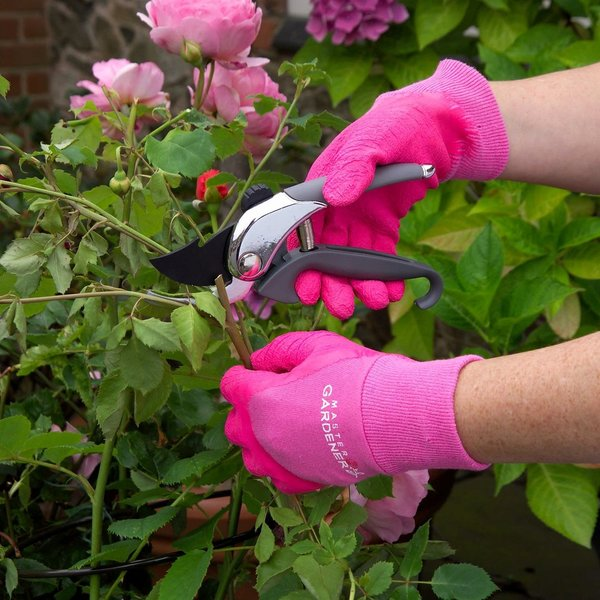 Ladies' Master Gardener Gloves thorn protection, wet grip, pink or aubergine