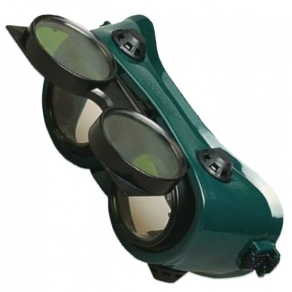 "2"" Round Lens Flip Front Welding/ Burning/ Gas Cutting Goggles"