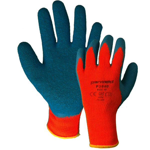 Thermal Gripper Latex Gloves