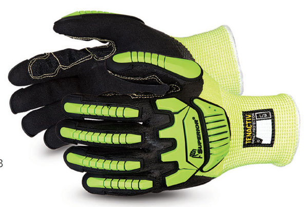 TenActiv Cut-Resistant Anti-Impact Hi-Viz Glove made with Micropore Nitrile Grip